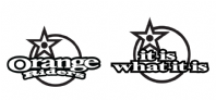 "Orange Riders & ""It is what it is"" vinyl decal"